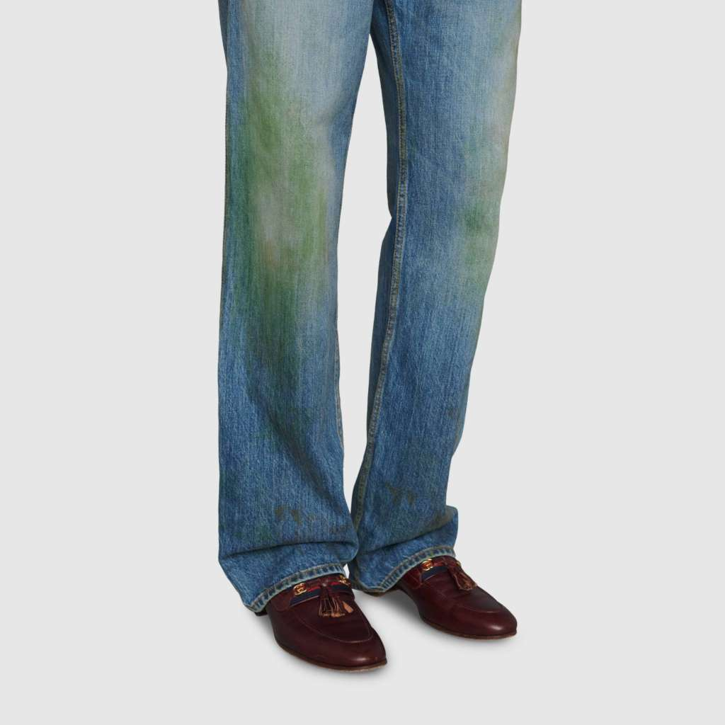 Gucci Denim Grass Stains