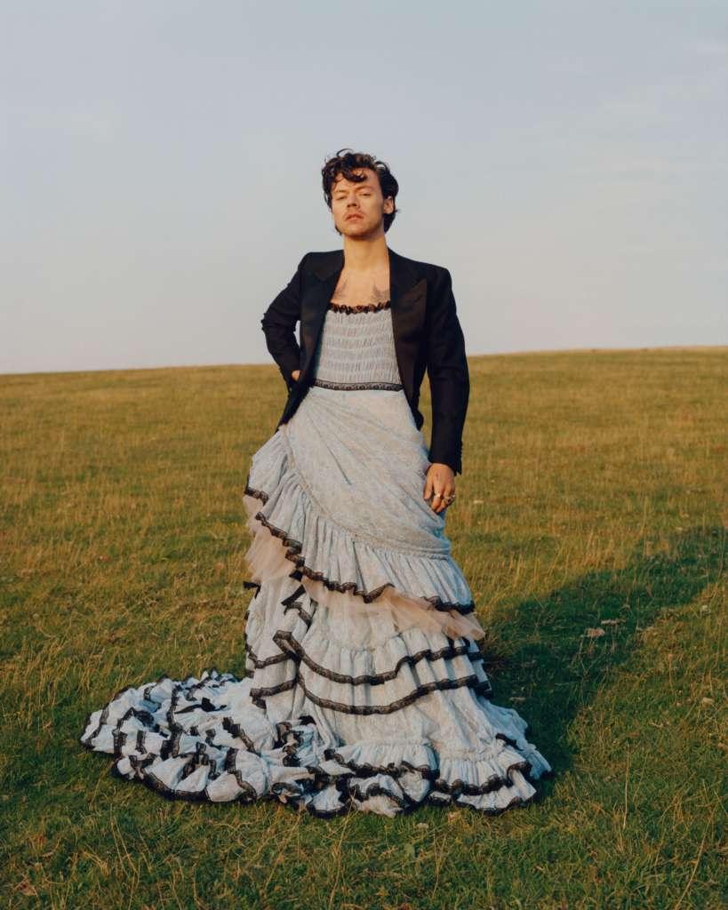 Harry Styles' Dress Vogue Cover Design Details