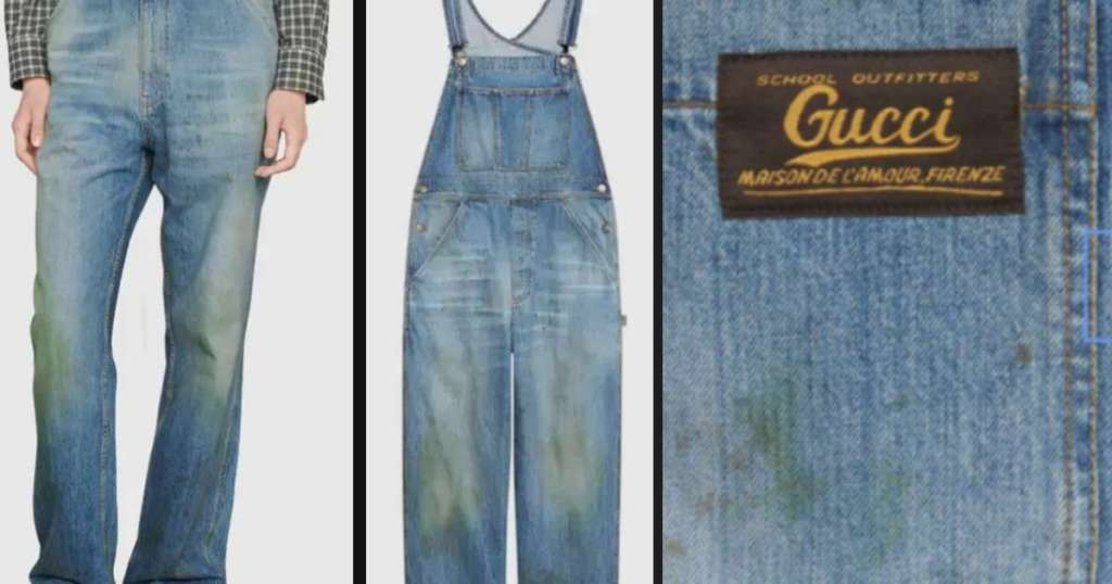 Gucci Grass-Stained Denims