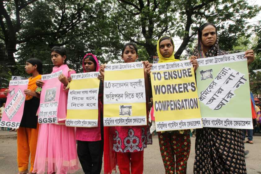 Bangladesh workers demanding rights and safety