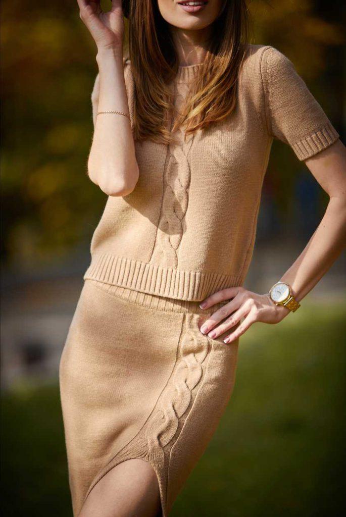 knitwear top knitwear skirt